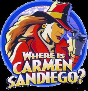 Carmen Sandiego Circular Logo Design