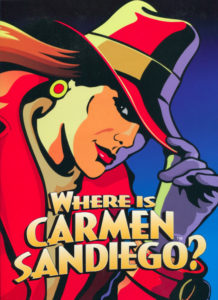 Carmen Sandiego Folder Cover Design