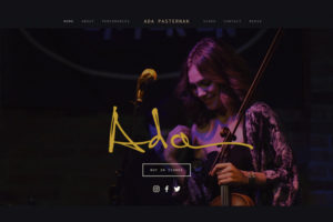 Ada's Music Website Design