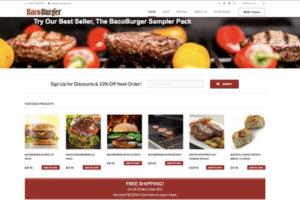 BacoBurger Website Design