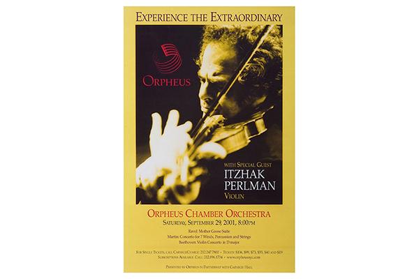 Carnegie Hall Itzhak Perlman Poster Design