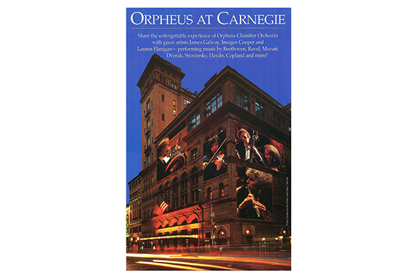Carnegie Hall Orpheus Season Cover Design
