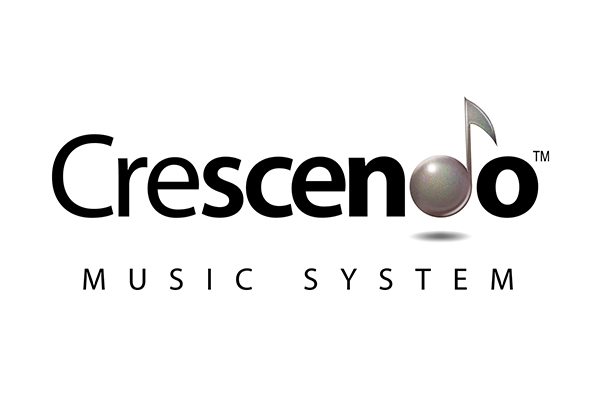 Crescendo Music System Logo Design