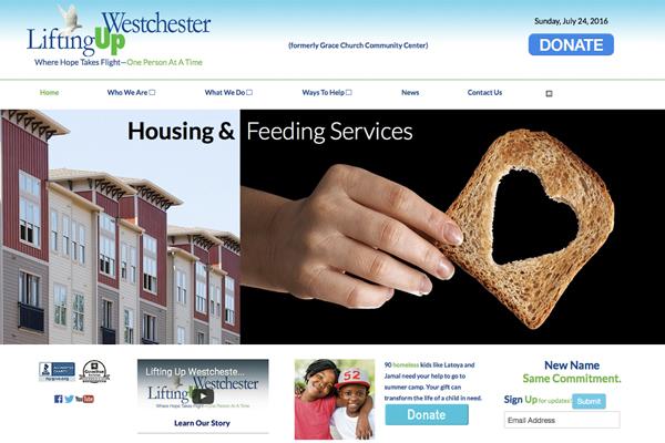 Lifting Up Westchester Website Design Copywriting