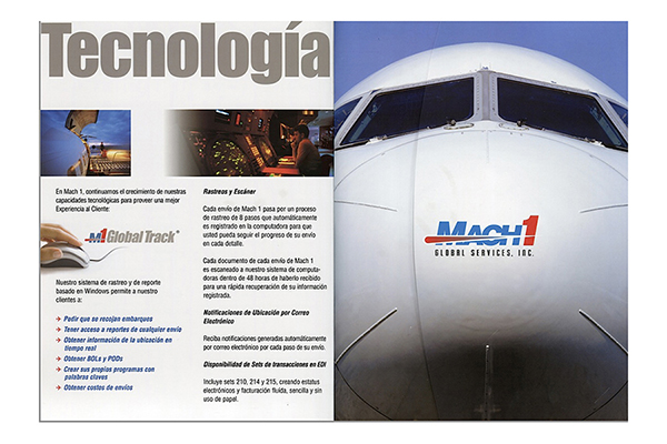 Mach 1 Global brochure design