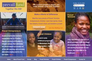 Prevail Fund Website Design Copywriting