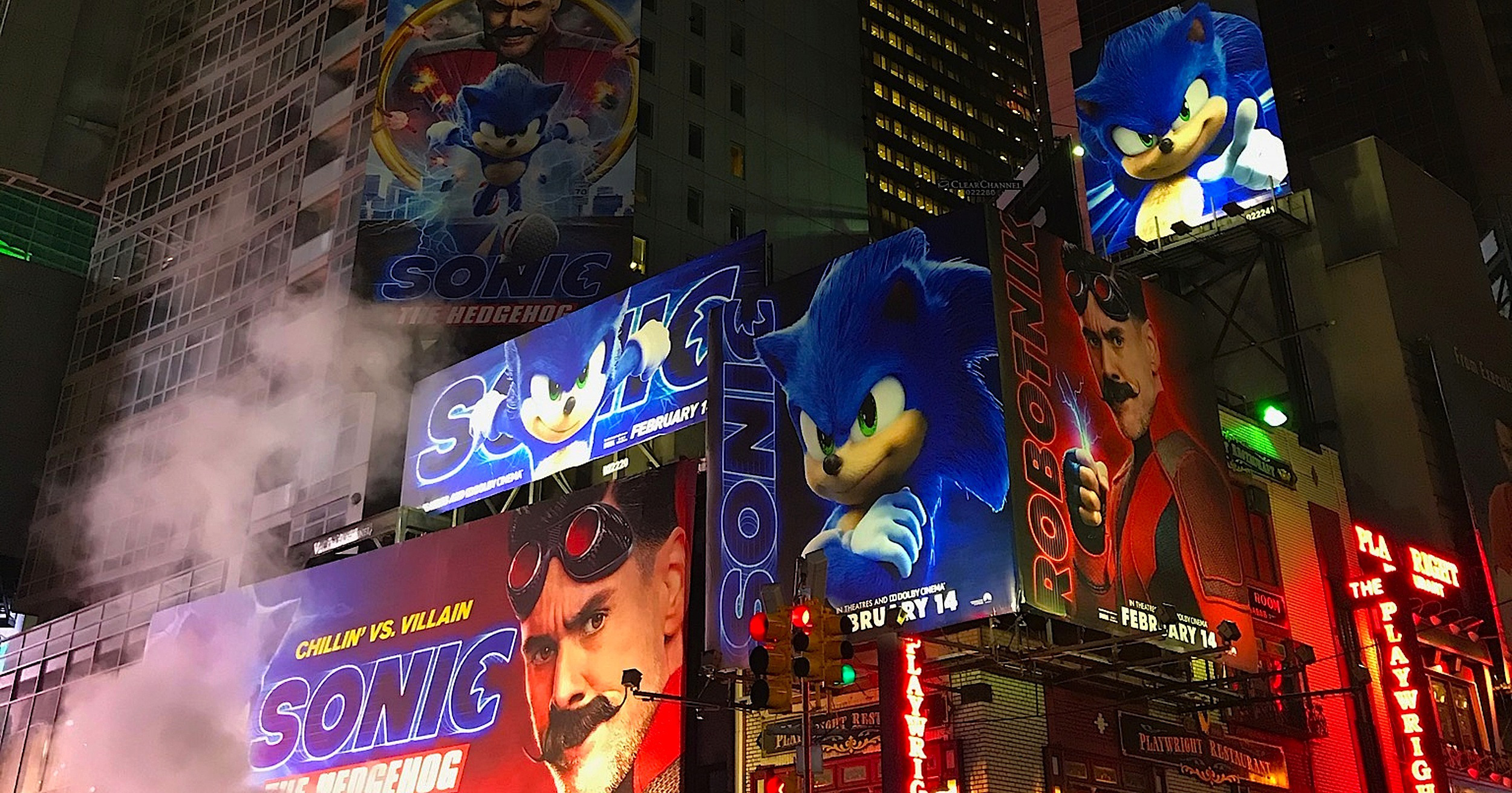 Sonic the Hedgehog at Times Square