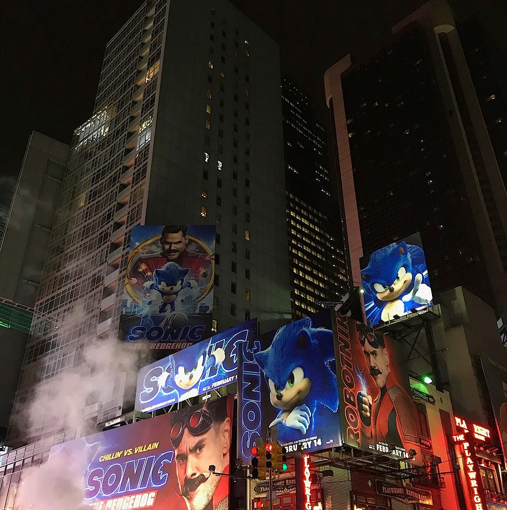 Sonic in billboards